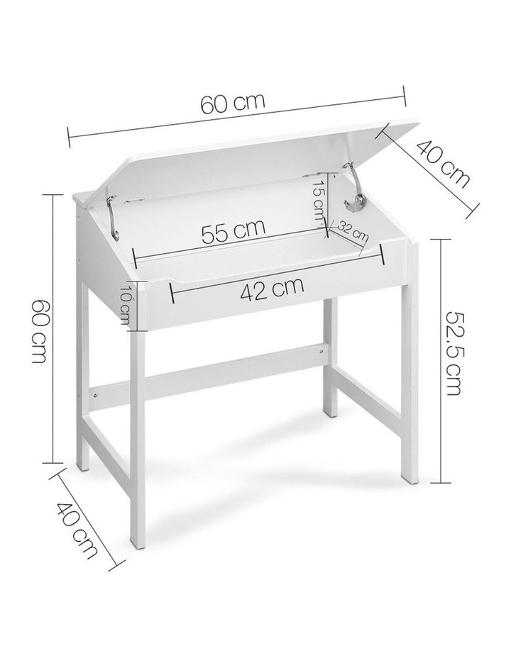 Keezi Kids Table and Chairs Set Children Drawing Writing Desk Storage Toys Play image 2