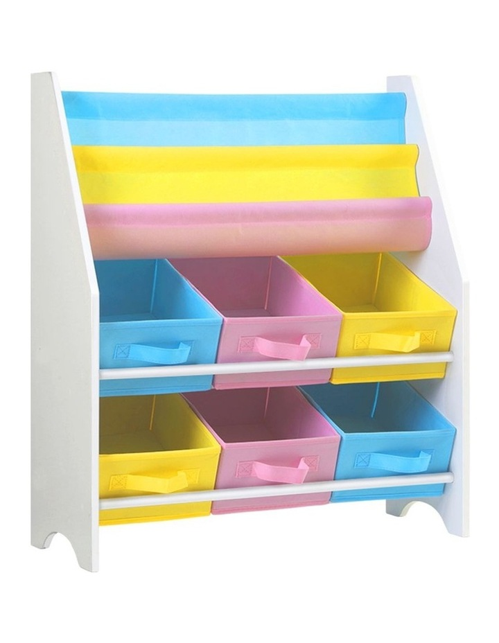 Artiss Kids Bookshelf Toy Storage Organizer Bookcase 2 Tiers Display Shelf Rack image 1