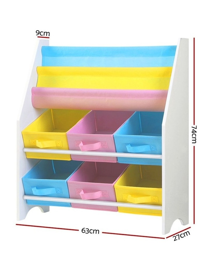 Artiss Kids Bookshelf Toy Storage Organizer Bookcase 2 Tiers Display Shelf Rack image 2