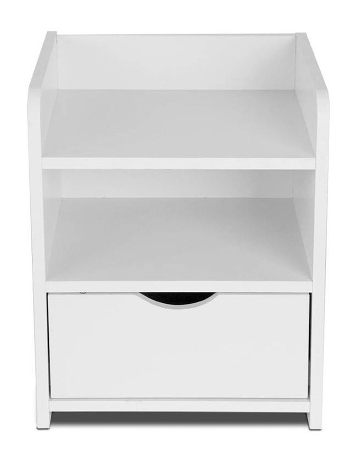 Artiss Bedside Table Drawer - White image 4