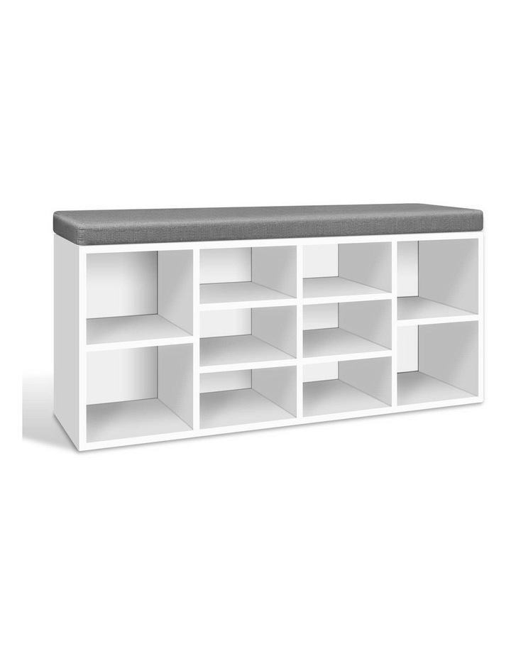 Fabric Shoe Bench with Storage Cubes image 1