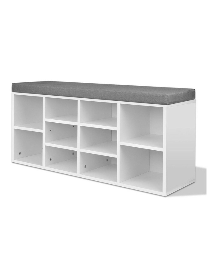 Fabric Shoe Bench with Storage Cubes image 4
