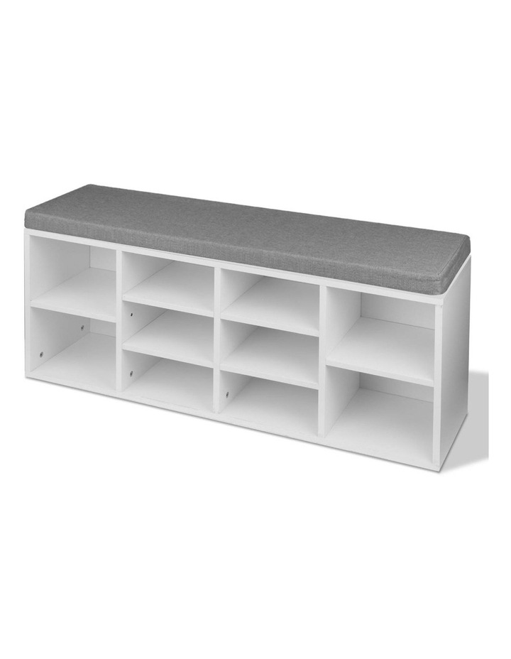 Fabric Shoe Bench with Storage Cubes image 5