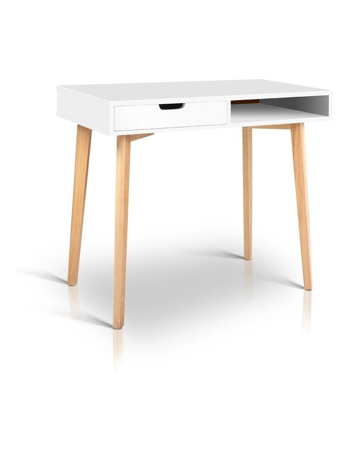 Artiss Wood Computer Desk with Drawers - White image 1