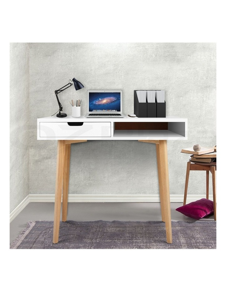 Artiss Wood Computer Desk with Drawers - White image 3