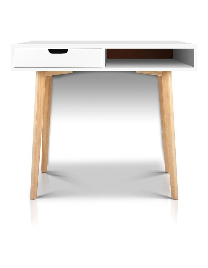 Artiss Wood Computer Desk with Drawers - White image 4
