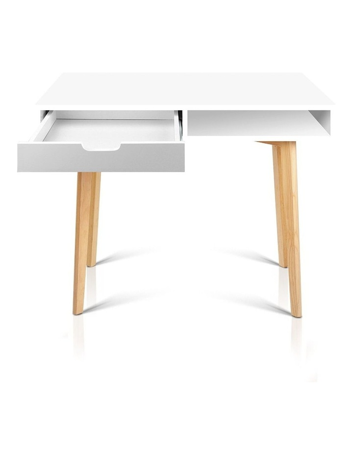 Artiss Wood Computer Desk with Drawers - White image 7