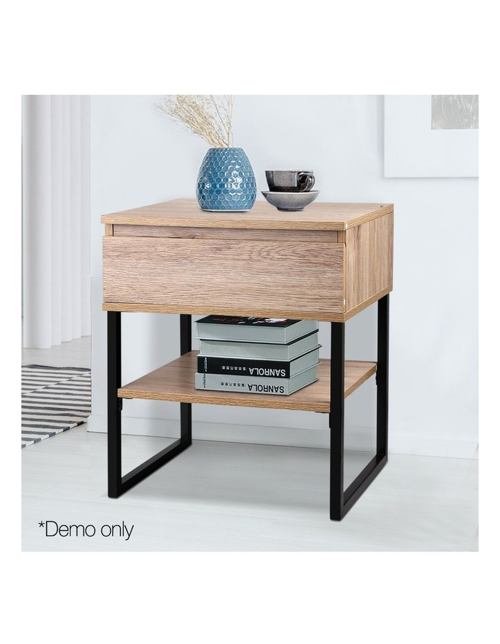 Chest Style Metal Bedside Table image 3
