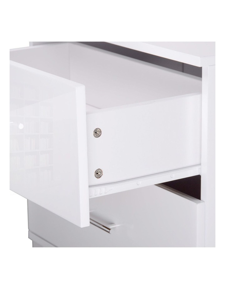 High Gloss Two Drawers Bedside Table image 5
