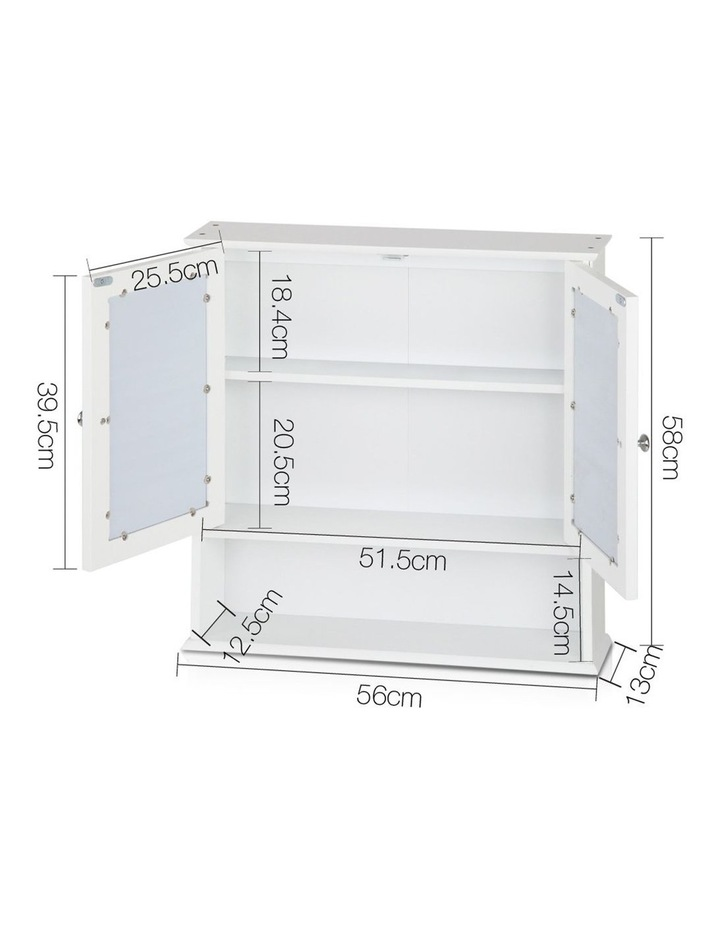 Bathroom Tallboy Storage Cabinet with Mirror image 2