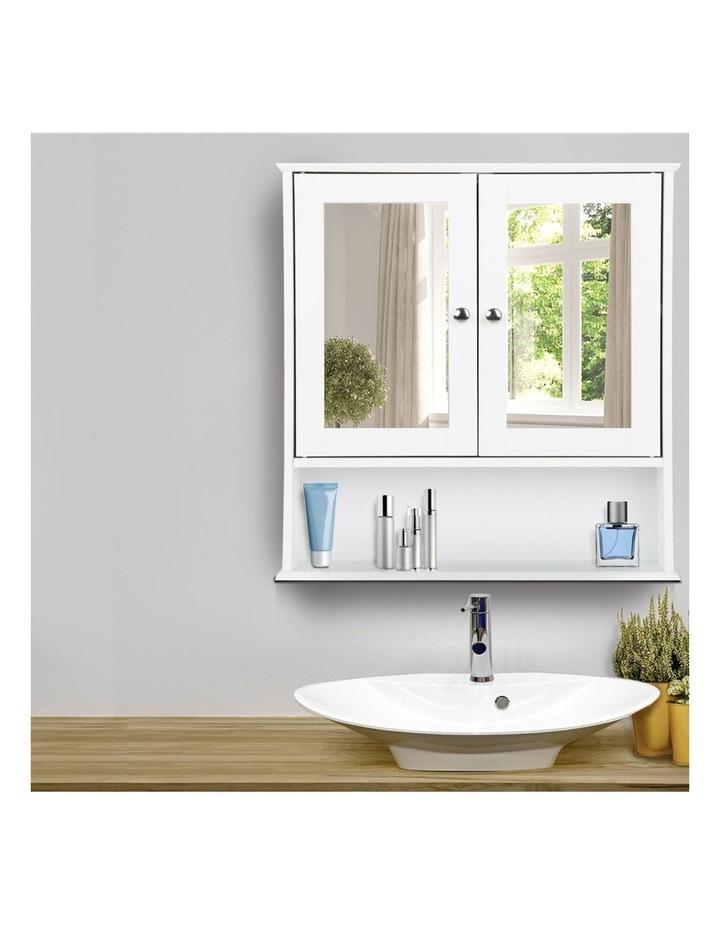 Bathroom Tallboy Storage Cabinet with Mirror image 3
