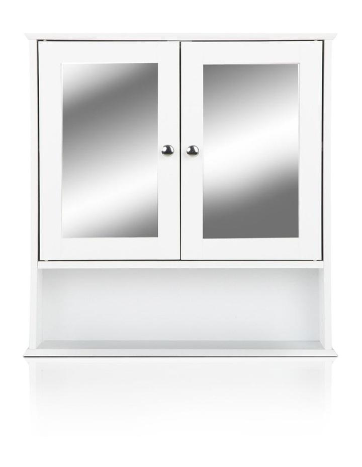 Bathroom Tallboy Storage Cabinet with Mirror image 4