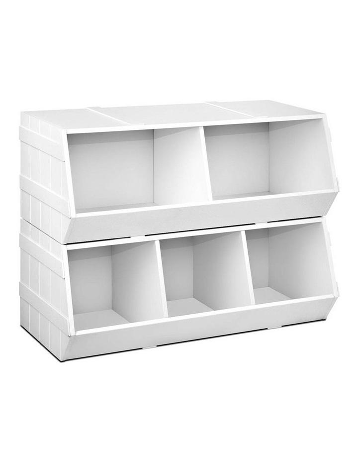 Keezi Kids Toy Box Bookshelf Storage Cabinet Stackable Bookcase Shelf Organiser image 1