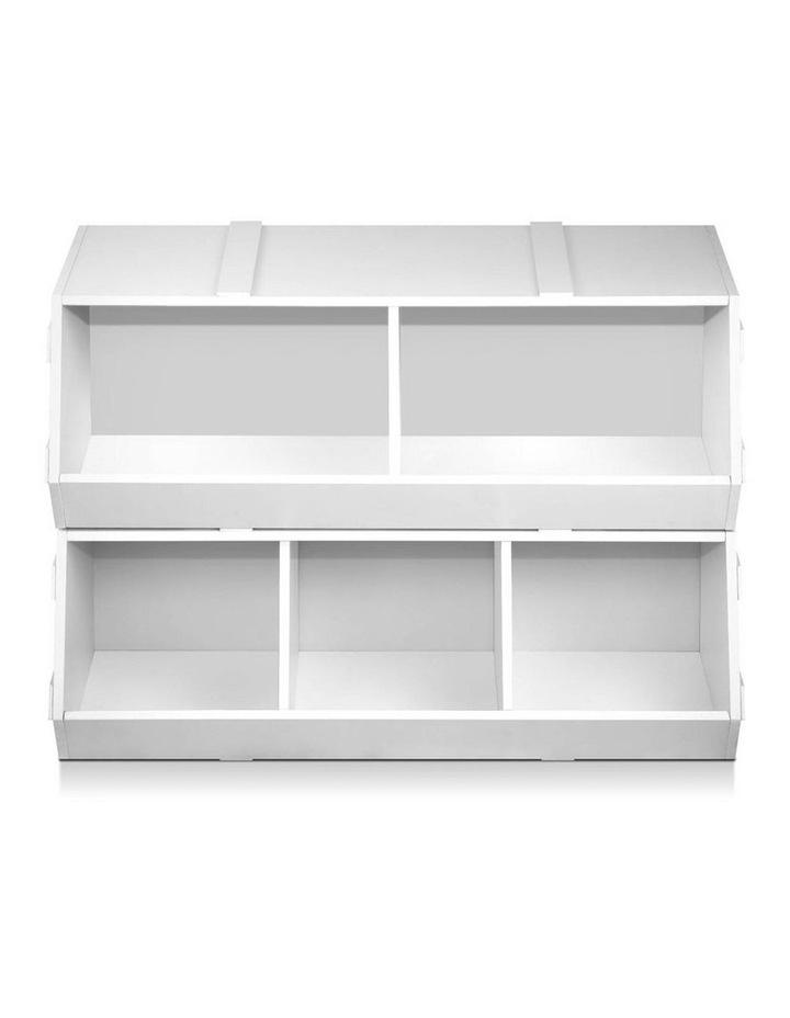 Keezi Kids Toy Box Bookshelf Storage Cabinet Stackable Bookcase Shelf Organiser image 3