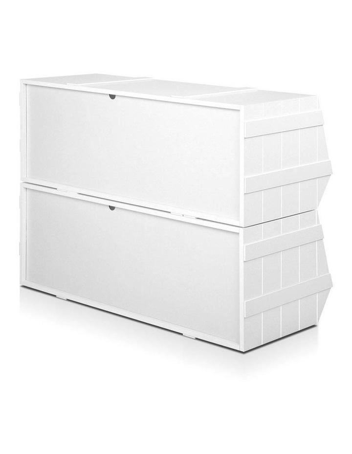 Keezi Kids Toy Box Bookshelf Storage Cabinet Stackable Bookcase Shelf Organiser image 4