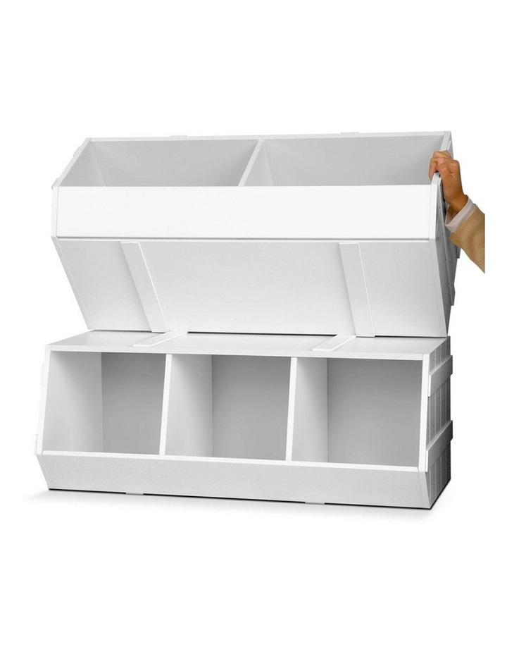 Keezi Kids Toy Box Bookshelf Storage Cabinet Stackable Bookcase Shelf Organiser image 5