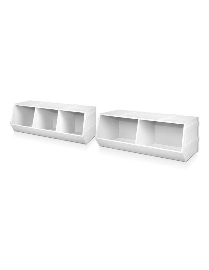 Keezi Kids Toy Box Bookshelf Storage Cabinet Stackable Bookcase Shelf Organiser image 7