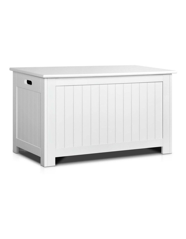 Keezi Kids Toy Box Storage Chest Cabinet Children Organiser White Container image 1