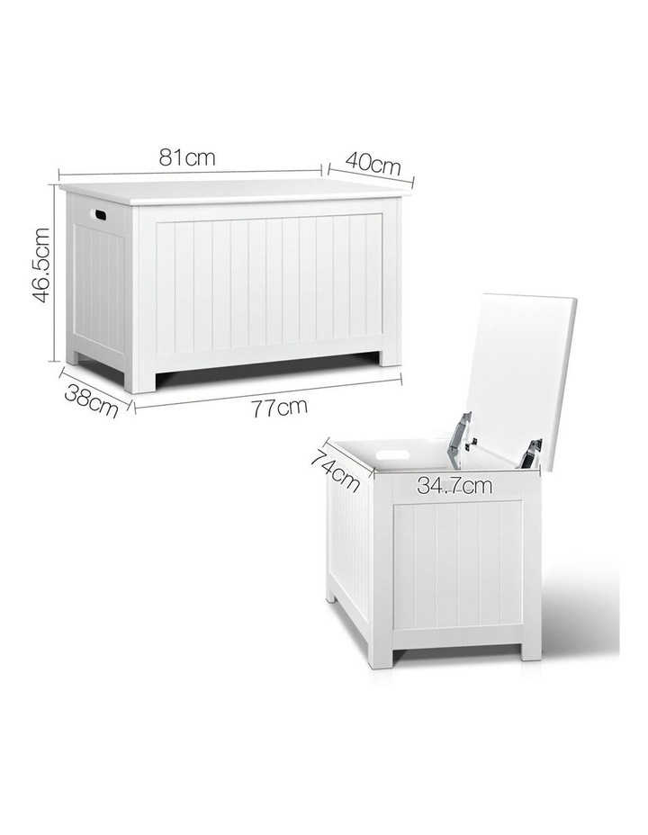 Keezi Kids Toy Box Storage Chest Cabinet Children Organiser White Container image 2