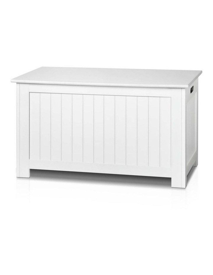 Keezi Kids Toy Box Storage Chest Cabinet Children Organiser White Container image 3