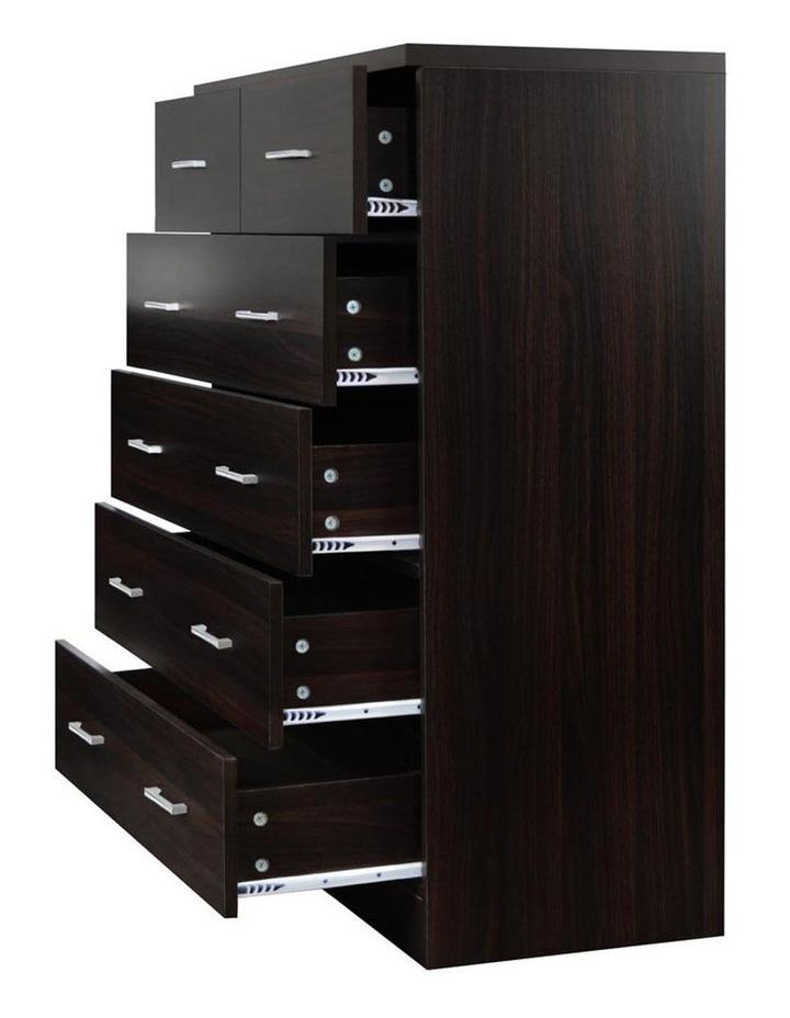 Artiss Tallboy 6 Drawers Storage Cabinet - Walnut image 5
