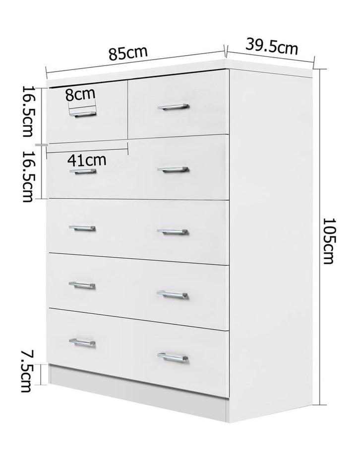 Tallboy 6 Drawers Storage Cabinet image 2
