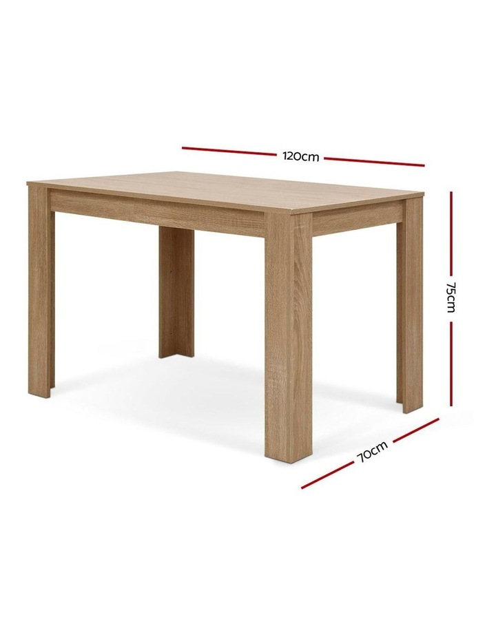 Artiss Dining Table 4 Seater Wooden Kitchen Tables Oak 120cm Cafe Restaurant image 2