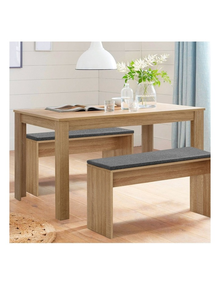 Artiss Dining Table 4 Seater Wooden Kitchen Tables Oak 120cm Cafe Restaurant image 3