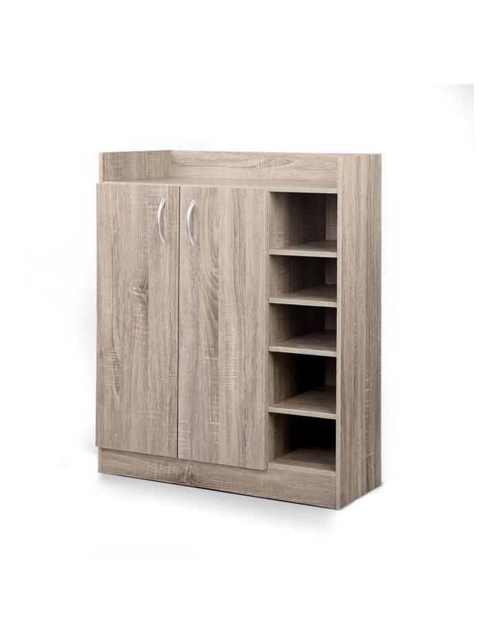 2 Doors Shoe Cabinet Storage Cupboard image 1
