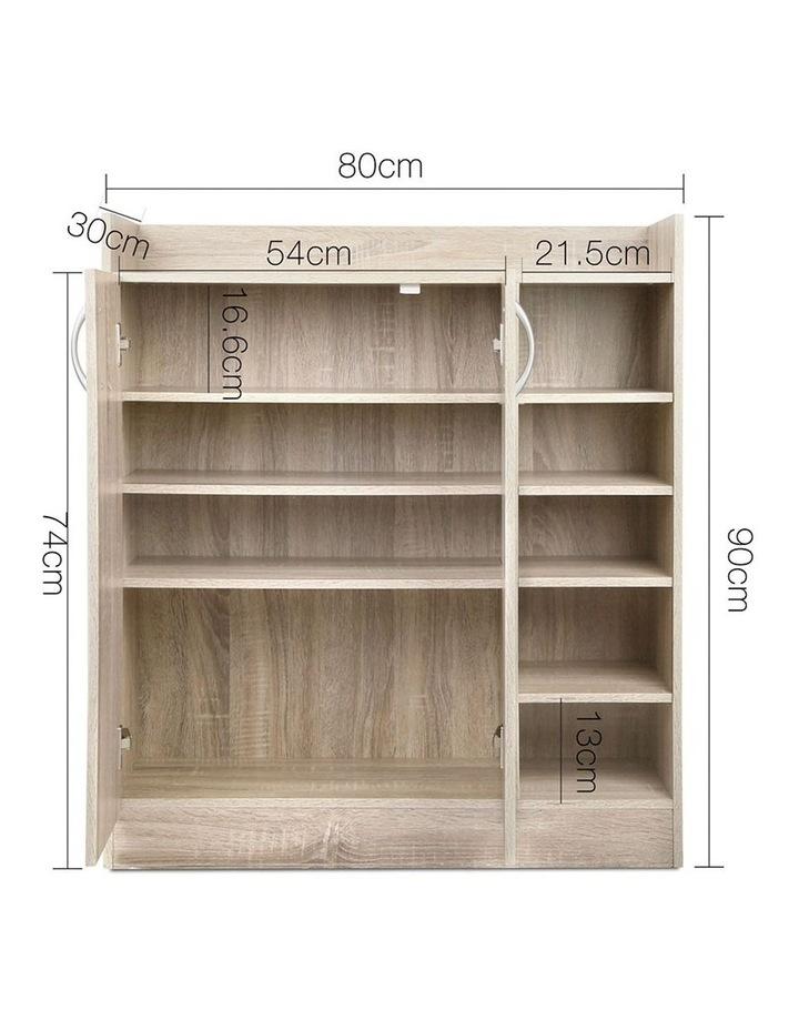 2 Doors Shoe Cabinet Storage Cupboard image 2
