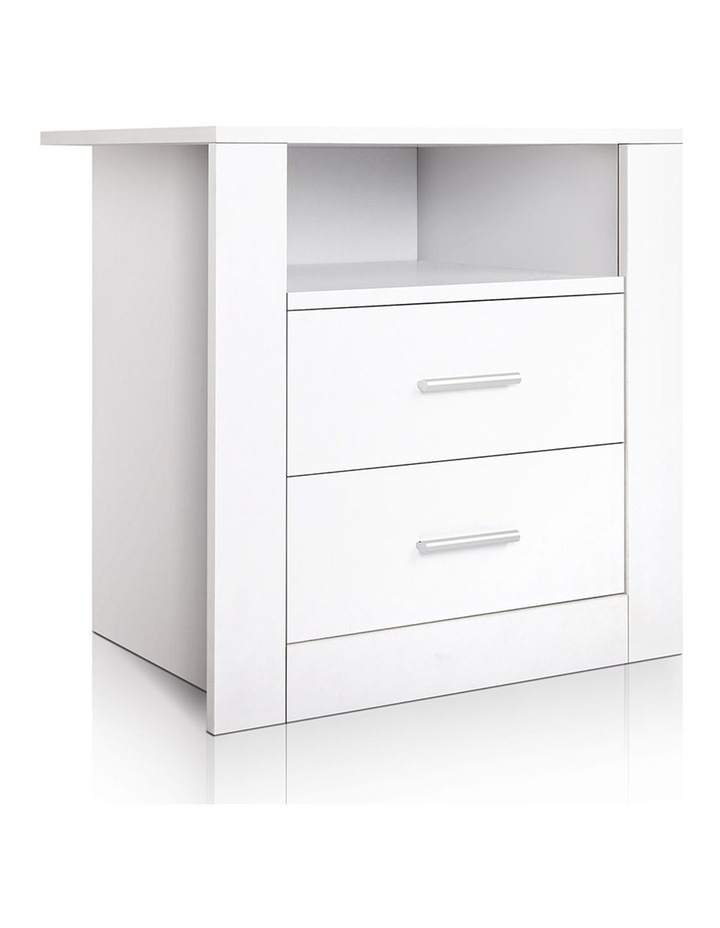 Artiss Bedside Tables Drawers Storage Cabinet Drawers Side Table White image 1