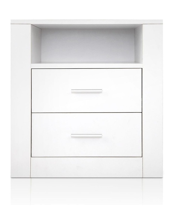 Artiss Bedside Tables Drawers Storage Cabinet Drawers Side Table White image 3
