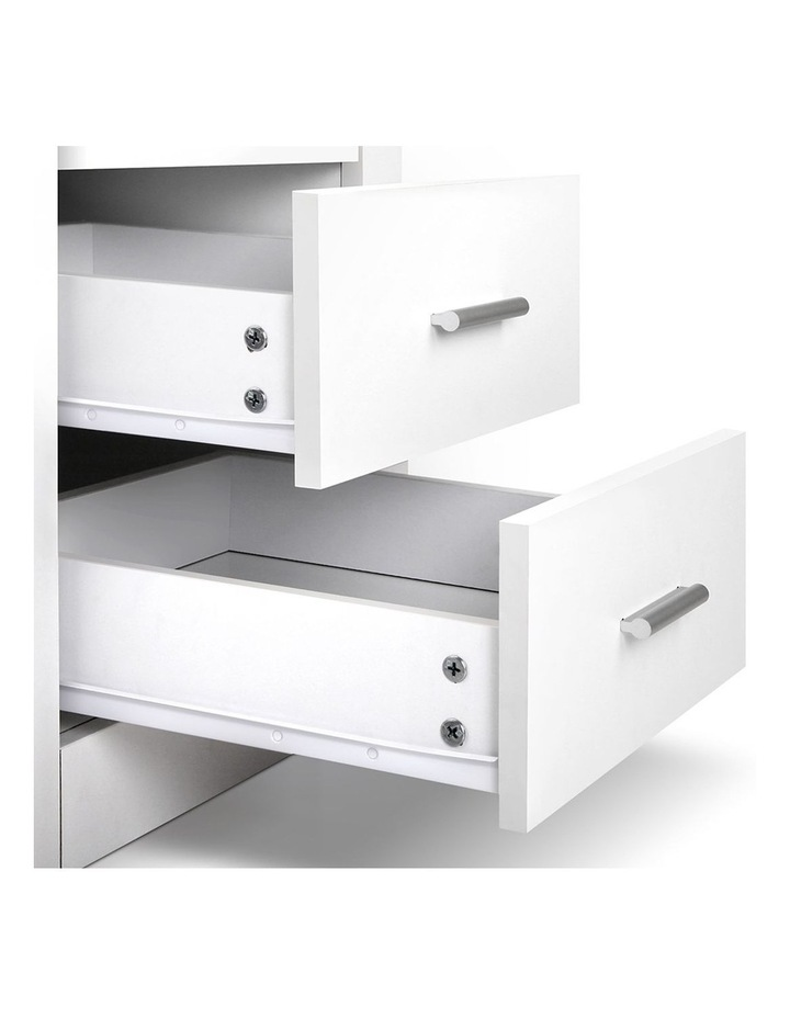 Artiss Bedside Tables Drawers Storage Cabinet Drawers Side Table White image 5