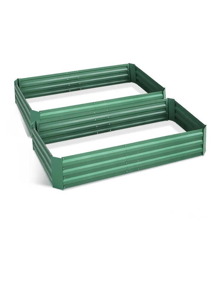 Green Fingers Set of 2 Galvanised Steel Garden Bed image 1