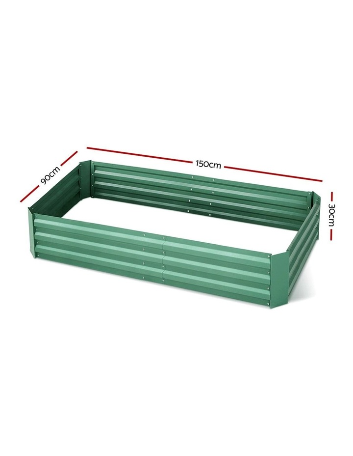 Green Fingers Set of 2 Galvanised Steel Garden Bed image 2