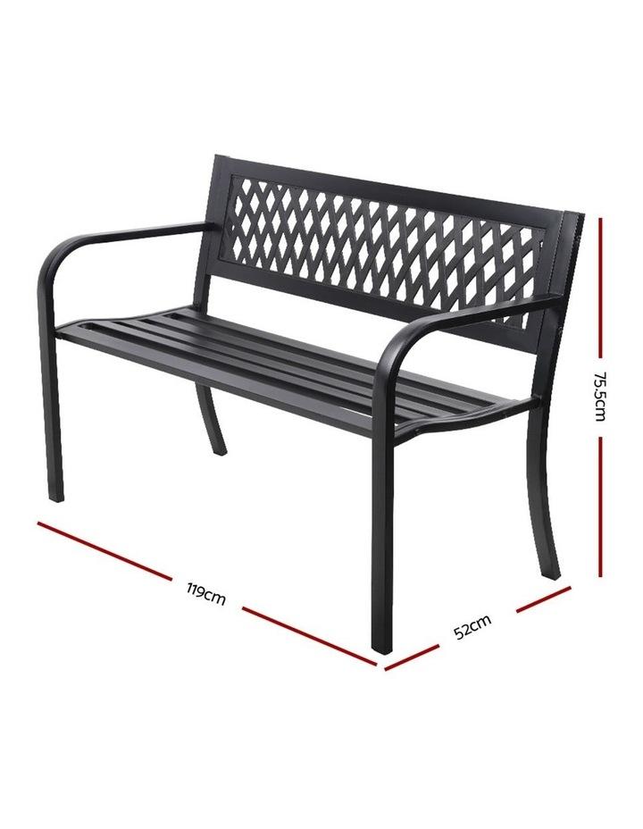 Cast Iron Modern Garden Bench image 2