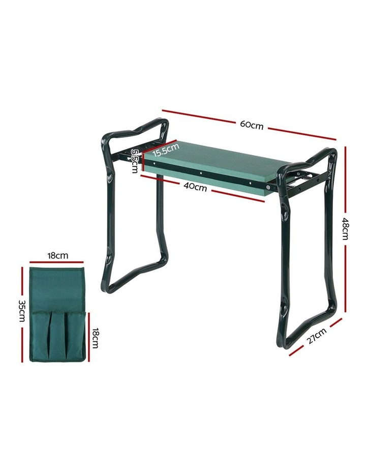 Garden Kneeler and Seat Tool Pouches Outdoor Bench Knee Pad Foldable image 2