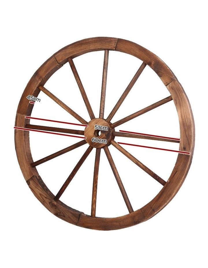 Set of 2 Wooden Wagon Wheel image 2