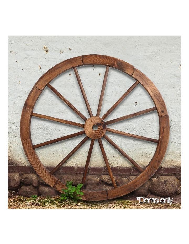 Set of 2 Wooden Wagon Wheel image 3