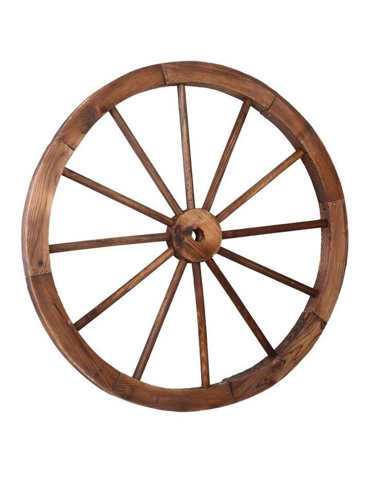 Wooden Wagon Wheel image 1