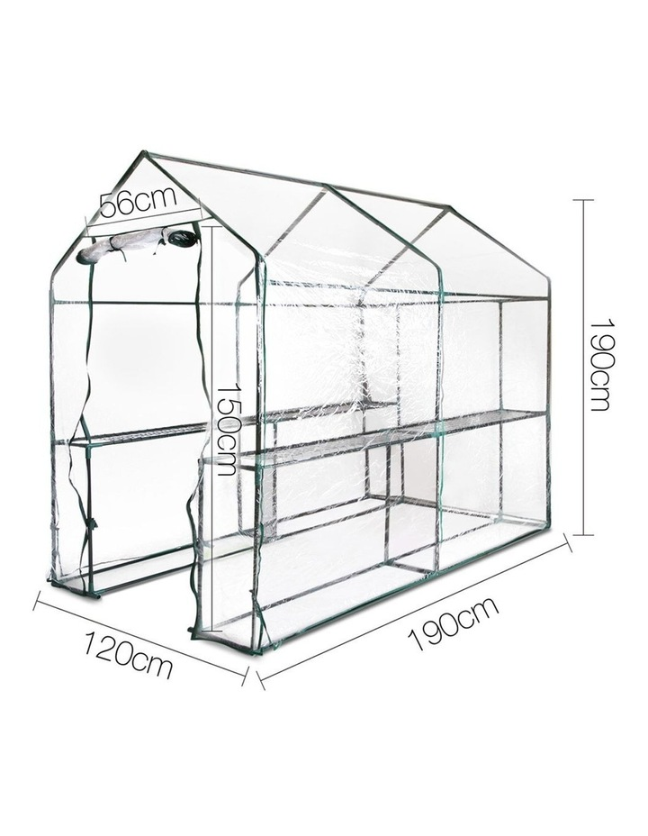 Green Fingers Walk In Transparent Greenhouse 1.9 x 1.2m image 2