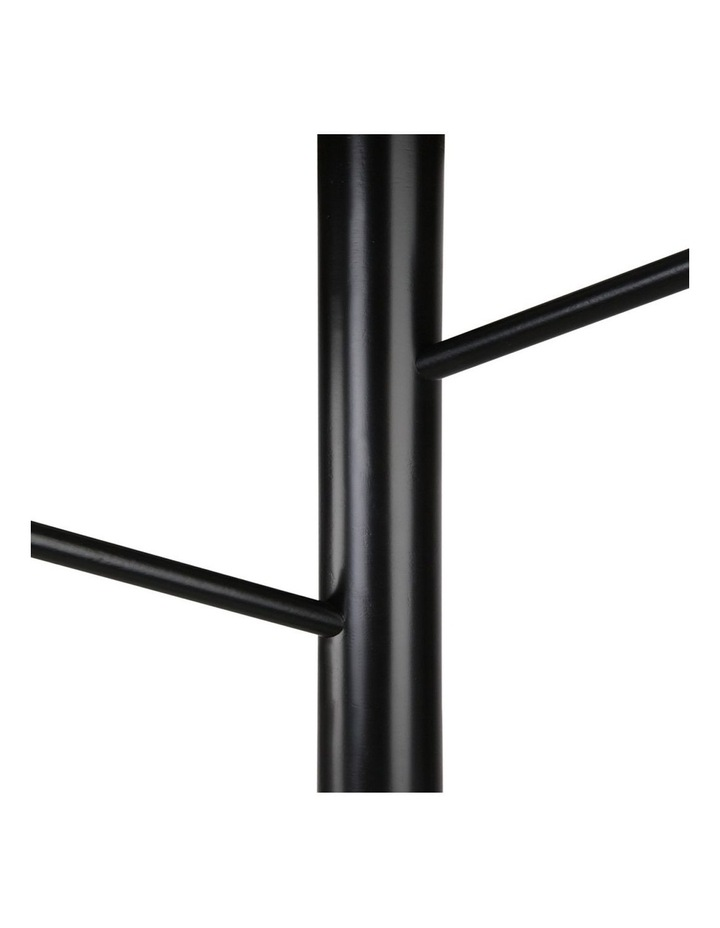 Artiss Wooden Clothes Stand with 6 Hooks - Black image 4