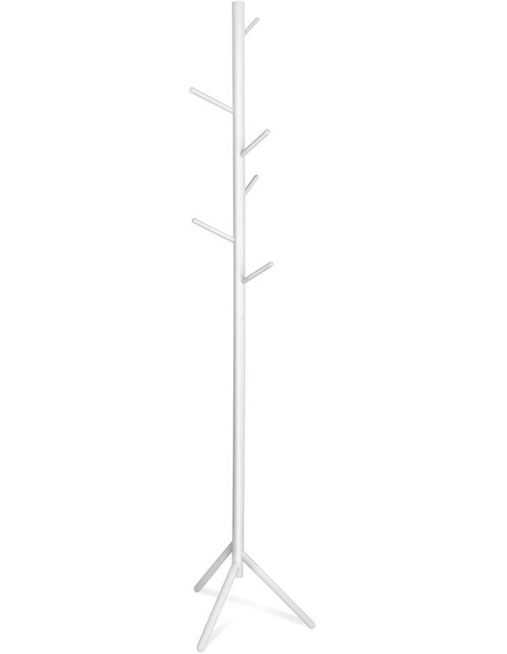 Wooden Clothes Stand with 6 Hooks image 1