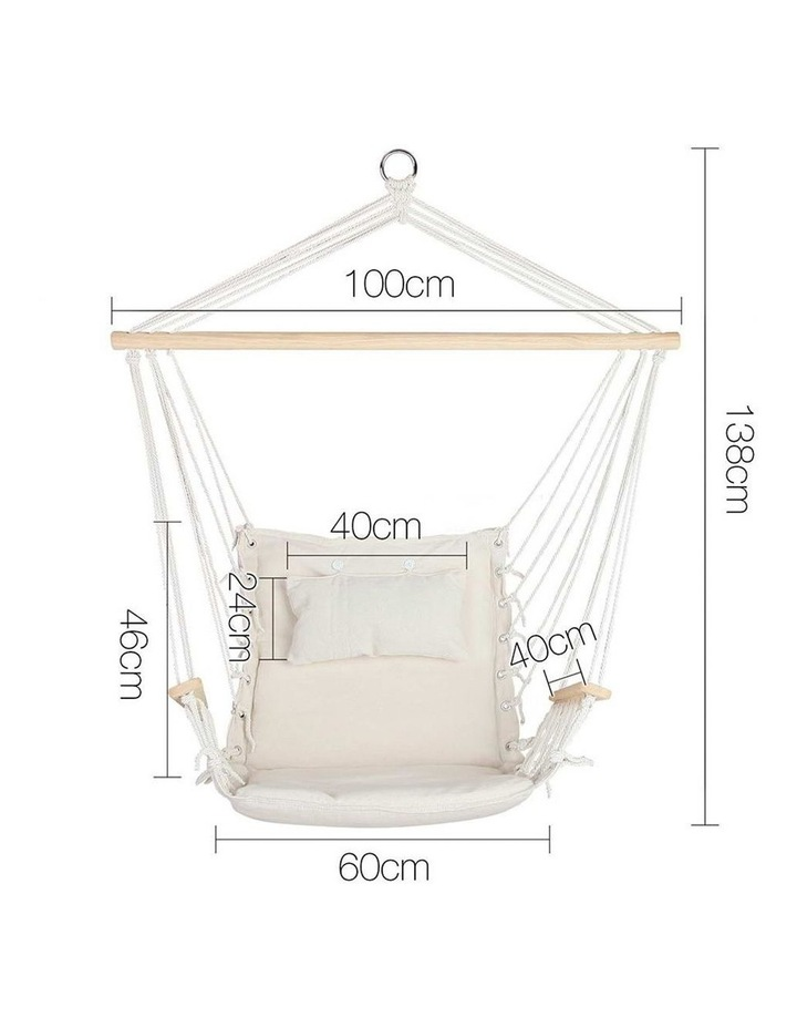 Hammock Hanging Swing Chair - Cream image 2