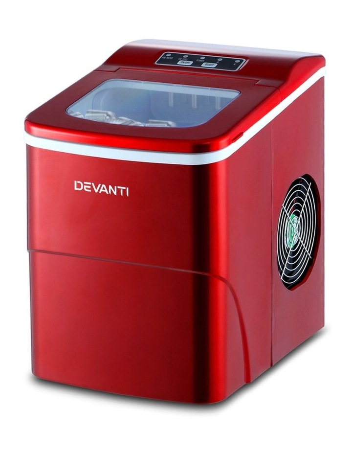 DEVANTi Portable Ice Cube Maker Machine 2L Home Bar Benchtop Easy Quick Red image 1