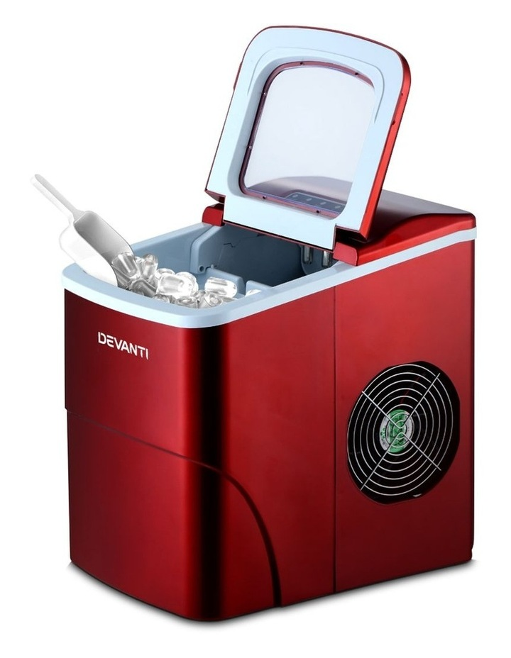 DEVANTi Portable Ice Cube Maker Machine 2L Home Bar Benchtop Easy Quick Red image 3