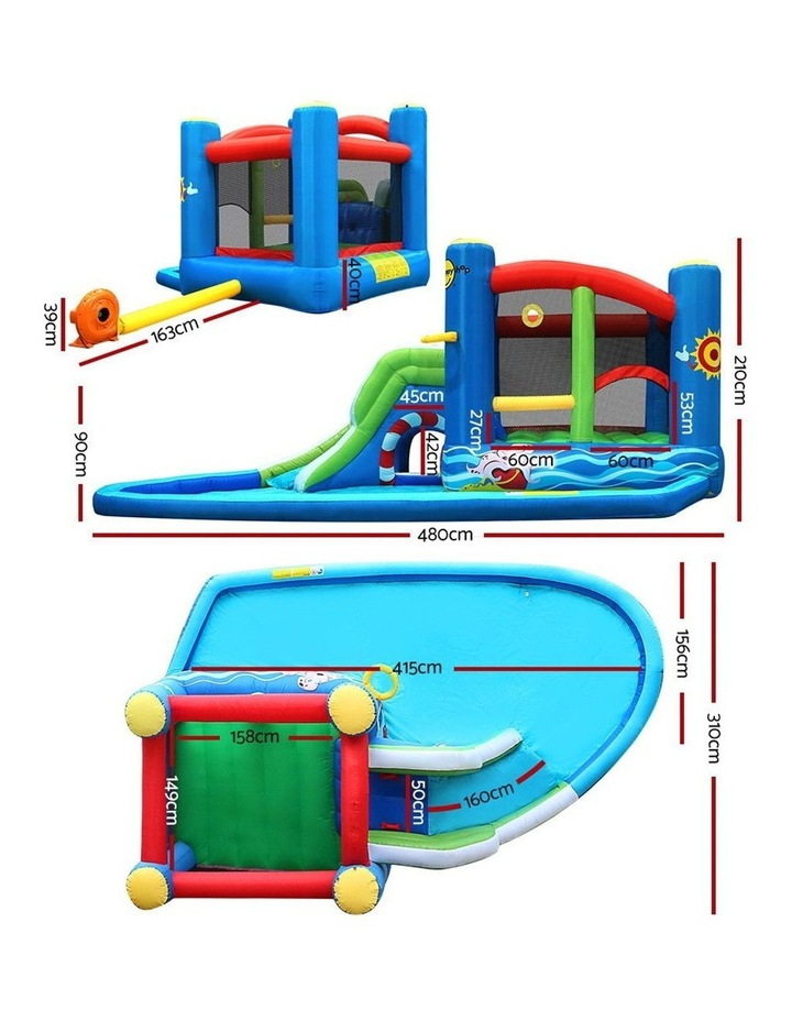 Happy Hop Inflatable Water Jumping Castle Bouncer Kid Toy Windsor Slide Splash image 2