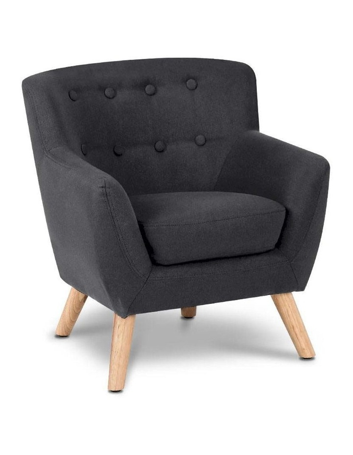 Keezi Kids Sofa Armchair Fabric Furniture Lorraine French Couch Children Black image 1