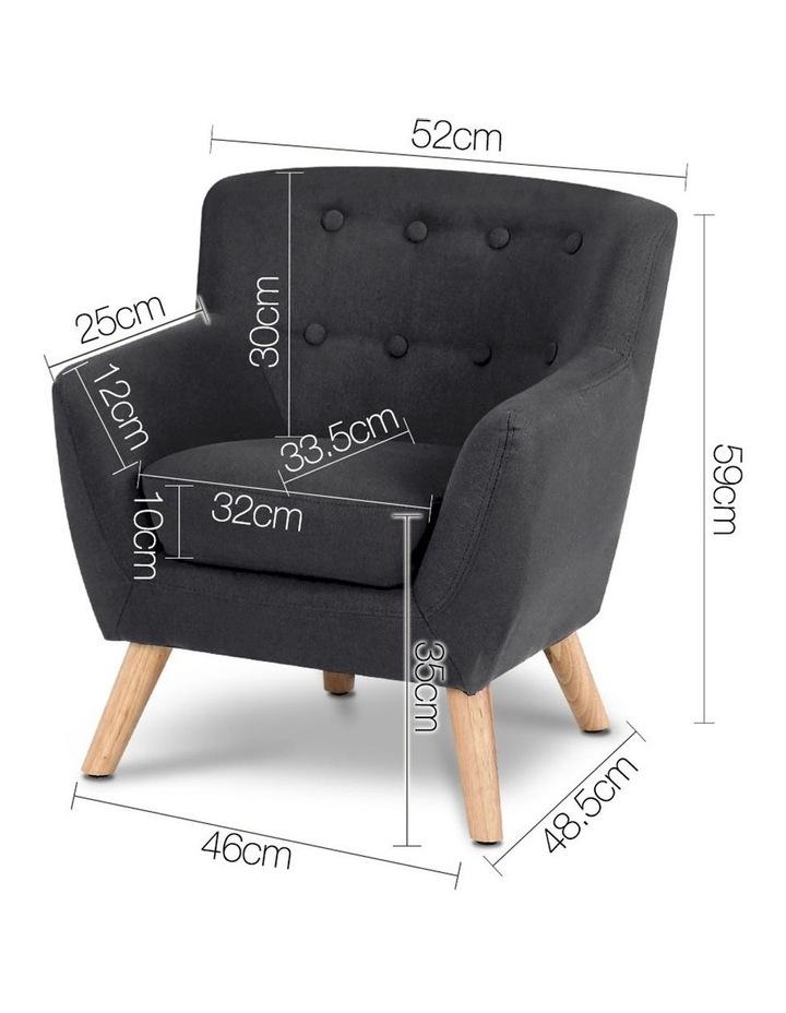 Keezi Kids Sofa Armchair Fabric Furniture Lorraine French Couch Children Black image 2