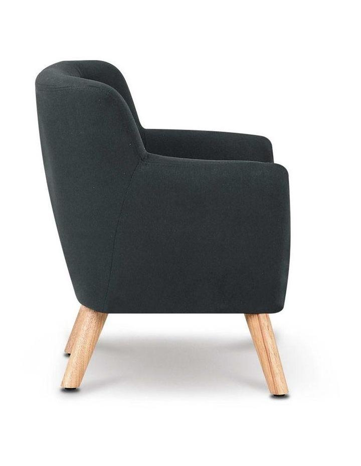 Keezi Kids Sofa Armchair Fabric Furniture Lorraine French Couch Children Black image 3